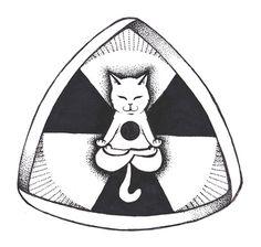Schrödinger's cat - sciense - Anastasis instagram.com/artanastasis/