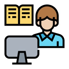See more icon inspiration related to student, book, elearning, ui, online learning, studying, learning, electronics, education, reading, user, online, monitor and computer on Flaticon.