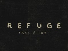 Refuge Free Retro handcrafted typeface