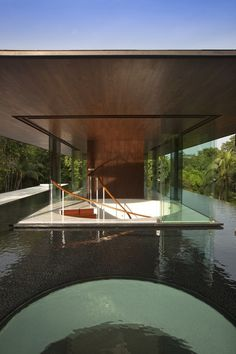 CJWHO ™ (Water Cooled House, Bukit Timah, Singapore |...) #design #watercooled #wood #pool #photography #architecture #timah #bukit #singapore #luxury