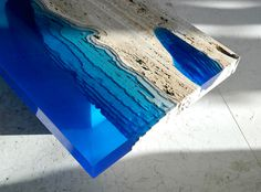 Designer Alexandre Chapelin of LA Table designed this intriguing series of three tables he refers to as Lagoon Tables.
