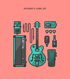(3) Tumblr #flat #guitar #icons