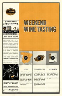 Weekend Wine Tastings #poster #wine #design #map