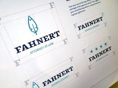 Dribbble - Fahnert Style Guide by Bill S Kenney #logo #branding #feather
