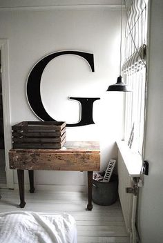 The Design Chaser: Letter Love #interior design #letters #decoration #decor #deco