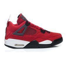 Air Jordan Retro 4 fur Chicago Bulls Red White Black Design #air #jordan #retro #fur #4