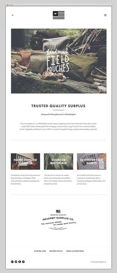 Neuarmy Surplus Co. #layout #website #web #web design