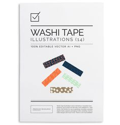 These 14 digital Washi tapes are great for use in your scrapbook and more. Hope you like them! #print