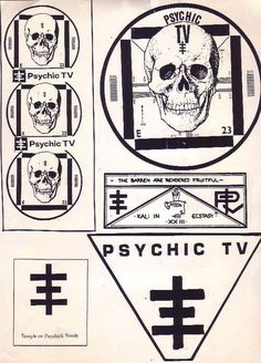 psychic tv #skulls #design #graphic #posters