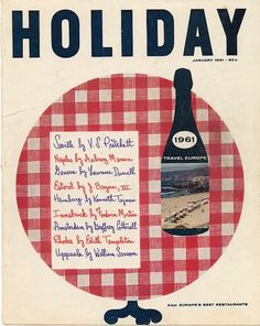 Holiday-January-1961.jpg (JPEG Image, 637 × 800 pixels) #1961 #magazine #holiday