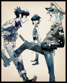 The Lords of Flatbush ∏ Jamie Hewlett.jpg (1000×1233) #jamie #hewlett