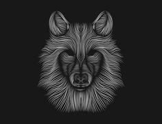 Wolf // silkscreen on Behance