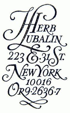 Herb Lubalin #herb #lubalin #typography #design #york #new