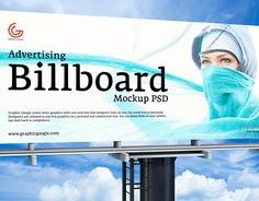 Free Advertising PSD Billboard Mockup Vol 2