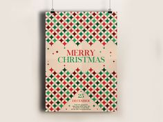 Vintage Pattern Christmas Flyer You can download it here: http://graphicriver.net/item/vintage-pattern-christmas-flyer/13556520?ref=abrades #inspiration #creative #pattern #invitation #flyer #christmas #poster #xmas
