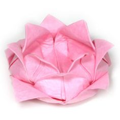 How to make a traditional origami lotus flower (http://www.origami-flower.org/howto-origami-lotus.php)