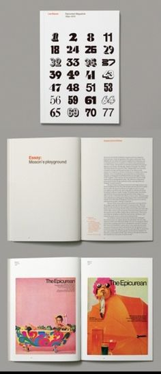 AisleOne - Graphic Design, Typography and Grid Systems #les #mason #epicurean #print #design #graphic #magazine #typography