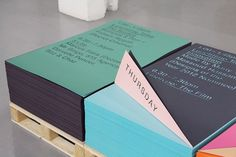MadeThought × GF Smith — SI Special | September Industry #exhibition #print #identity