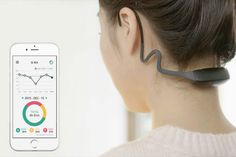 This wearable #posture #tracker and app monitors the position of your head and neck, gradually coaching you into better posture to relieve p