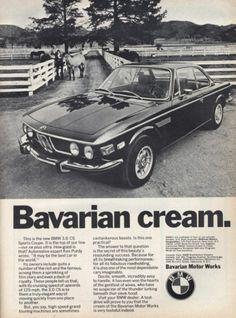 Automotive Advertising Blog | Vintage: BMW 3.0 CS classicandvintagebmw: ...