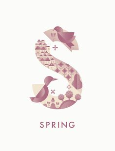 #spring #typography #illustration #season