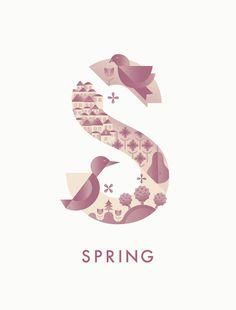 #spring #typography #illustration #season