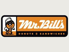 Dribbble - Mr. Bill's Donuts Logo by Clark Orr #mascot #branding #shop #vintage #donut