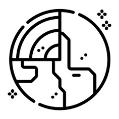 See more icon inspiration related to space, miscellaneous, planet earth, solar system, astronomy, universe, galaxy, planet, earth and nature on Flaticon.