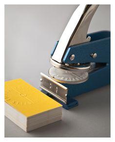 Identity #logo #embossing #yellow #emboss