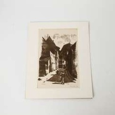 RÜHLE, CLARA (Stuttgart 1885-1947 Münsingen), 5 lithographs, landscapes, city views,