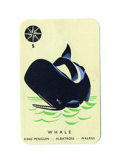 TypeToy Graphic Finds #whale #water #vintage