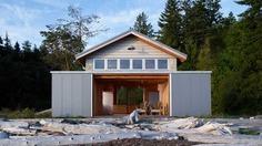 Hood Canal Boat House and Cottage, Olympic Peninsula, Washington