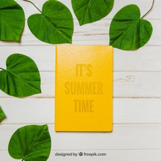 Summer theme with leaves Free Psd. See more inspiration related to Mockup, Summer, Paper, Beach, Sea, Sun, Leaves, Holiday, Mock up, Decorative, Vacation, Wooden, Summer beach, Up, Season, Theme, Composition, Mock, Summertime and Seasonal on Freepik.