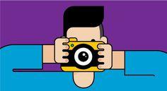 Photographer #flat #illustration #geometric