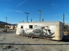 Merde! - Street art (Roa)