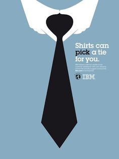 Dutch Uncle Agency { News Blog }: Noma Bar • IBM 'Oucomes' Campaign #poster #negative space #ibm #noma bar