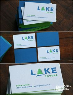Letterpress business cards with painted edges and ink flood on the back. Letterpress Winkel The Netherlands.