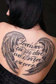 35 Breathtaking Wings Tattoo Designs