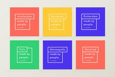 Citinerary by Frederique Matti #print #cards #colourful