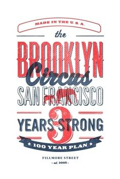 http://pinterest.com/pin/34199278390087703/ #type #brooklyn #circus