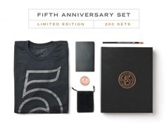 5TH ANNIVERSARY SET (LIMITED EDITION) | Ugmonk #limited #edition #apparel #branding #packaging #copper #tshirt #foil