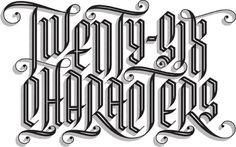 Typeverything.com TwentySixLogo by Michiel Van... - Typeverything #swash #type #blackletter #typography