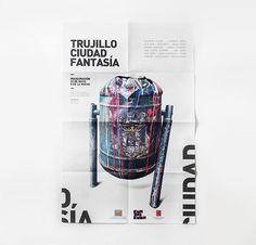 Trujillo Ciudad Fantasía on Behance #dada #beto #fantasãa #cristian #cat #minimalism #trujillo #prieto #intervenciã³n #per㺠#valverde #ciudad #helvetica #din