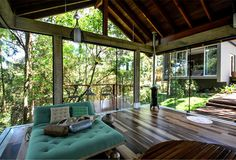 Brazilian House with Stylish Architecture and Rustic Materials privet retreat inhabitants #bed #bedroom #design #decorating