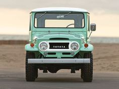 #vehicle #toyota #green #old #off-road