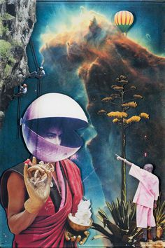 "Sebastian Wahl The Seeker - 2011 12"" x 18"" Buy Print Collage in Resin"