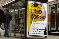 Journées Européennes de la Musique de Perugia | Phileman Agence de communication et de design Nantes / Lorient #live #bus #lettering #nude #rock #print #design #adv #poster #stop #music #concert #italy