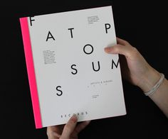 Fat Possum Artist Booklet #fat #pink #fluorescent #possum #book #label #typeface #music #scan #scribble #neon