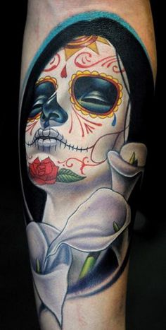 day_ of_ the_ dead_ tattoo__06 #tattoos #day #of #the #dead #body art
