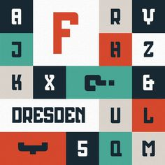 Dresden Typeface on Typography Served #type #design #font